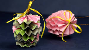 pinecone paper craft ornament for decorations