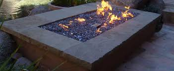 Firepit Glass Gas Pit Burner Ring Gas Pit Glass Blue Glass Pit