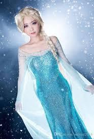 elsa costume frozen elsa princess women evening party dress costume