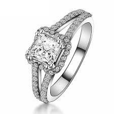 unique princess cut engagement rings unique split shank halo princess cut engagement ring gems