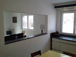 ouvrir cuisine cuisine bois et blanc laque 3 cuisine r233novation et