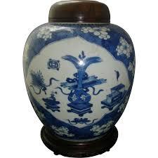 Blue And White Vases Antique Antique 18th Century Chinese Kangxi Porcelain Blue U0026 White Vase
