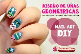 figuras geometricas uñas uñas decoradas con figuras geométricas video tutorial paso a paso