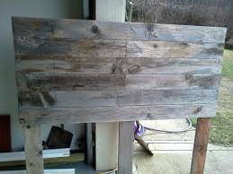 Wood Headboard Diy Weathered Wood Twin Headboard Diy Weathered Wood Headboard 31