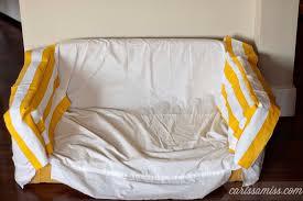 Making Slipcovers For Sofas Diy Striped Slipcover For Kids Flip Sofa Carissa Miss