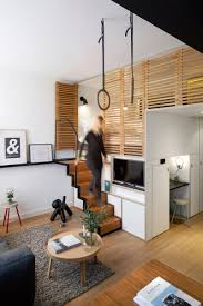 Compact Design Hotel Room Boasts Retractable Staircase And Hideaway Loft Bed