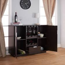 amazon com furniture of america mendocino wine cabinet buffet