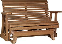 Luxcraft Fine Outdoor Furniture by Luxcraft 4 U0027 Plain Glider Amish Yard