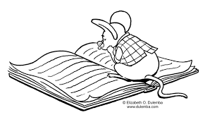 dulemba coloring page tuesday studying mouse
