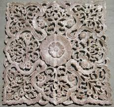 hand carved teak wood panel from thailand intricately hand carved