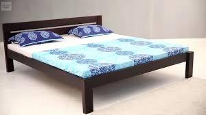 bed shoppong on line bed without storage shop online denzel bed in walnut finish