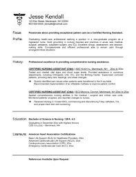 sample resume for nursing student example resume nursing assistant enjoyable inspiration cna sample