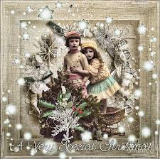 vintage christmas vintage christmas mixed media by mo t
