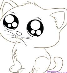 cute kitten coloring pages to print christmas free toddlers enjoy
