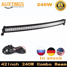 12v led light bar high lumen curved led light bar 42 inch 240w combo beam 12v led work