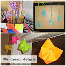 Home Made Party Decorations 80s Party Big Reveal U0026 Tons Of 80s Party Ideas