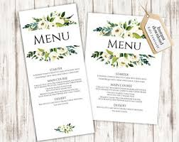 editable menu template menu template etsy
