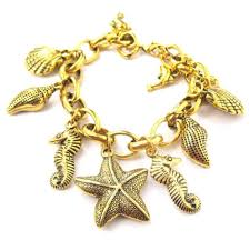 themed charm bracelet sea creatures starfish seahorse dolphins themed charm bracelet in