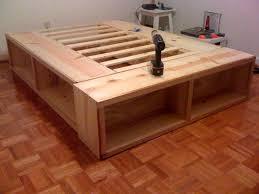 Diy Platform Bed Platform Bed Storage Frame Diy Platform Bed Storage Option