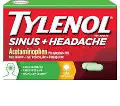 Headache Every Night Before Bed Tylenol Sinus Congestion U0026 Pain Daytime Tylenol