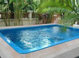 Inground Pools For Small Backyards by Fiberglass Inground Swimming Pools With Small Design Home