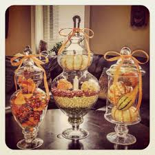 falltastic apothecary jars holiday decor pinterest