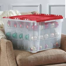 ornament storage in ornament storage boxes