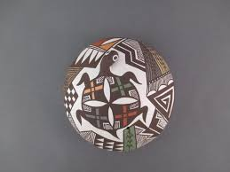 acoma pottery by carolyn concho seed pot with u0027turtle u0027