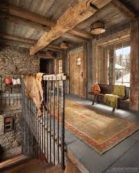 rustic stone and log homes modern stone and log homes a rustic mountain retreat perfect for entertaining in big sky big