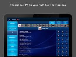 tata sky apk tata sky mobile for tablets apk free entertainment