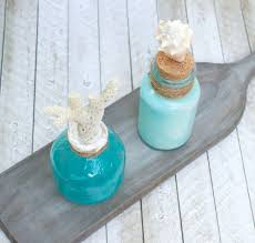 coastal centerpieces coastal themed glass bottle table centerpieces