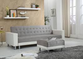canapé avec pouf monet gris blanc canapé convertible avec pouf canapés et