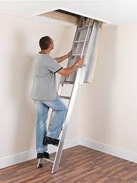ramsay al3 aluminium sliding loft ladder attic ladders amazon