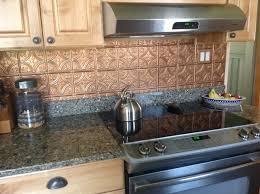 stylish stylish tin tiles for backsplash in kitchen shiny copper