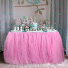 baby shower table decoration baby shower table decorations 100 80cm tulle table skirt wedding