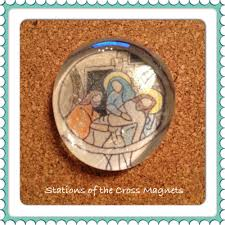 stations of the cross magnets lenten craft activity