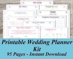 lovable free wedding planning free printable wedding planner