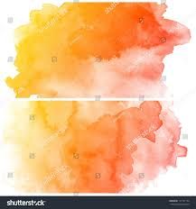 Orange Paint by Abstract Colorful Water Color Art Background Stock Illustration