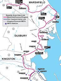 Plymouth Massachusetts Map by Marshfield Duxbury Kingston