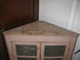 Antique Corner Cabinets Antique Corner Pie Safe Rare Painted Punched Tin From