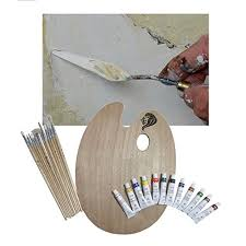 wooden palette daveliou paint brushes palette set 12 brushes 12 acrylic non