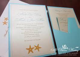 Stunning Appearance Starfish Wedding Invitations Plumegiant Com