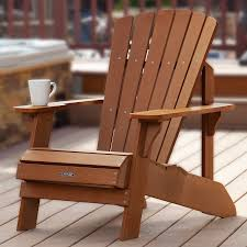 Furniture Composite Adirondack Chairs The Amazon Com Lifetime Faux Wood Adirondack Chair Light Brown