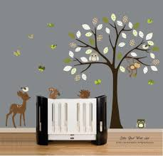 Nursery Wall Decals Animals by Wall Decals Vinyl Wall Decal Tree Owl Forest Animals Nursery Wall