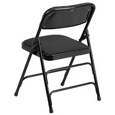 Folding Chair Fabric Hercules Series Curved Triple Braced U0026 Double Hinged Black