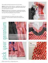 dress pattern 5 year old geranium dress 12 months 5 years selvage fabrics australia