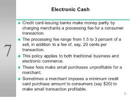 Credit Card Processing Fees For Small Businesses Electronic Payment Systems Ppt Video Online Download