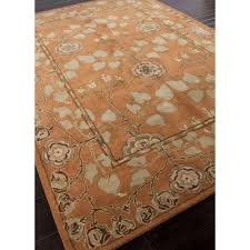 Area Rugs Orange Jaipur Rugs Classic Arts And Crafts Pattern Orange Green Wool Area