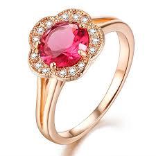 girls stone rings images Natural gemstones and semi precious stone red corundum rose gold jpg