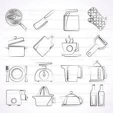 Home Kitchen Equipment by Home Kitchen Equipment Icons Stock Vector Art 607929094 Istock